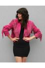 Hot-pink-fringed-suede-vintage-jacket