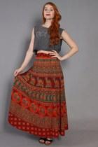 70s Wrap Skirt