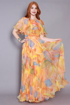 60s Chiffon Dress