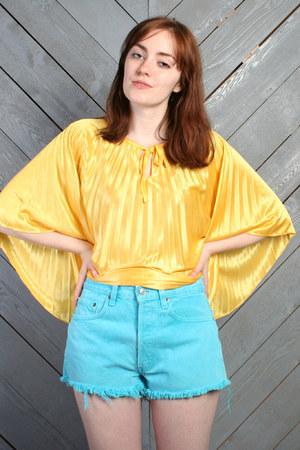 turquoise blue Vintage Levis shorts