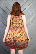 Dark Khaki Vintage Dresses