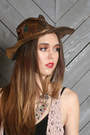 Black-lace-up-ropers-justin-boots-dark-brown-lucky-vintage-hat