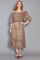 70s Paisley Dress