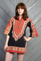 red dashiki mini LUCKY VINTAGE dress