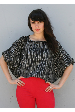 black vintage blouse
