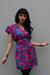 magenta vintage dress