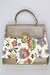 ivory tapestry carpet vintage bag