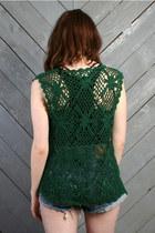 Forest Green Vintage Vests