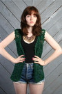 Forest Green Vintage Vests