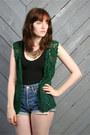 Forest-green-vintage-vest