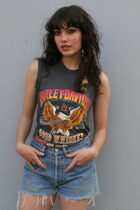 black sleeveless Vintage Harley Davidson t-shirt