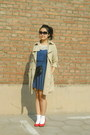 Blue-polka-dots-h-m-dress-camel-me-city-coat-black-vintage-from-mum-bag