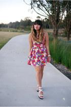 hot pink Blue Jade Fashion dress - ivory Cali and Cale flats