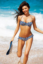 blue bikini swimwear