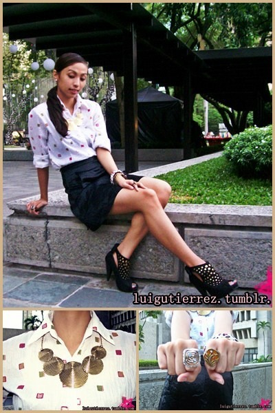 YRYS ring - Samut Sari necklace - Esprit skirt
