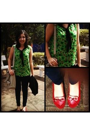 c&a blouse - Zara jeans - Melissa flats