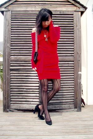 McQ dress - Miu Miu purse - Jonathan Aston tights - Miu Miu shoes