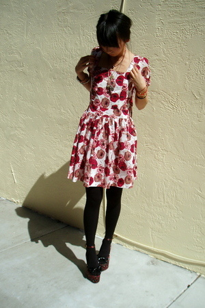 Forever21 dress - Tabio tights - Betsey Johnson shoes