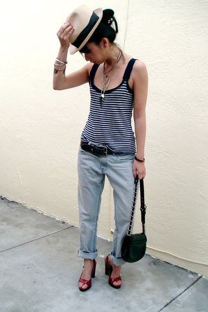 Wyeth top - Levis jeans - random brand hat - Miu Miu shoes