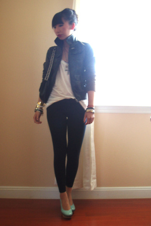 H&M jacket - Marni shoes - Miu Miu purse - American Apparel pants