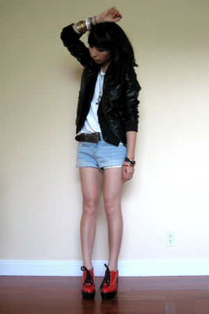 H&M jacket - Topshop vest - Topshop shorts - Chloe shoes