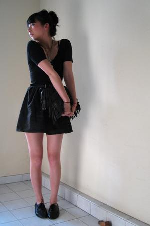 American Apparel dress - handmade by Camille skirt - vintage belt - seychelles s