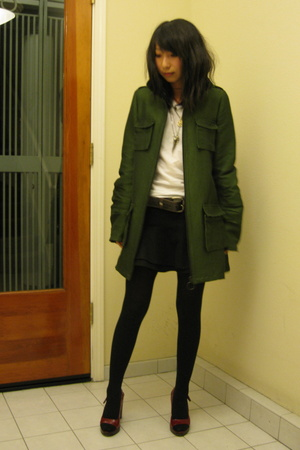 Alexander Wang jacket - Hanes t-shirt - Topshop skirt - Miu Miu shoes