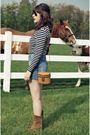Blue-ralph-lauren-t-shirt-blue-levis-jeans-brown-vintage-boots-gold-ray-ba