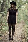 Black-modcloth-dress-black-urban-outfitters-hat-black-jeffrey-campbell-shoes