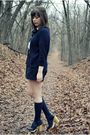 Blue-vintage-sweater-blue-vintage-shorts-blue-vintage-socks-blue-seychelle