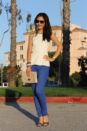 blue blue jean H&M jeans - white white peplum H&M top