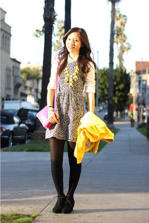 black madewell dress - hot pink Jcrew bag