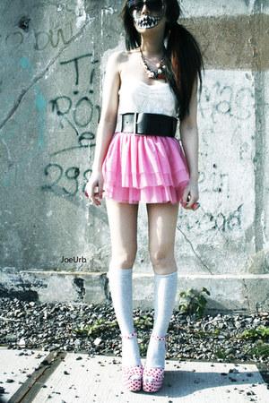Jeffrey Campbell shoes - tll H&M skirt - lace Primark bodysuit