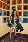 F21-dress-black-blazer-steve-madden-shoes