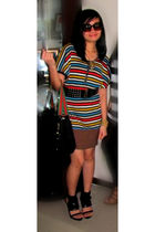 Kensie G dress - online bought heels - Gucci - coach sunglasses - random brand a