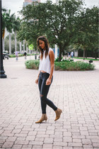 rag & bone jeans - Aritzia top - Yves Saint Laurent heels