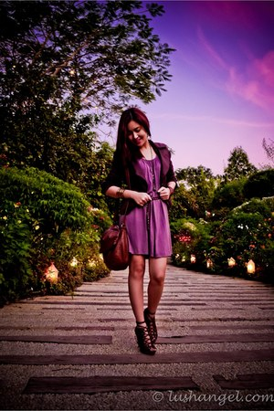 lace up H&M shoes - grayish-purple KAT Collection dress - brown Random from Kore