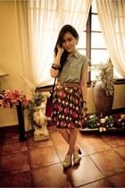 Bayo skirt - Ferretti shoes - Hermes bag - random from Hong Kong blouse