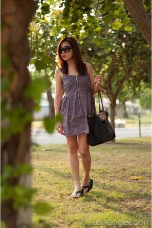 floral KAT Collection dress - le pliage longchamp bag - cotton on sunglasses - g