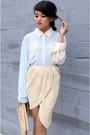 Chicwish-blouse-pony-clutch-asos-bag-sequin-skirt-virgos-lounge-skirt