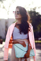 adalea skirt Club Monaco skirt - Topshop jacket - peplum Finders Keepers top