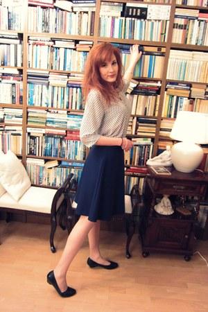 navy 50s skirt