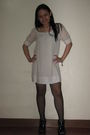 White-chanel-accessories-white-dress-black-stockings-black-dior-shoes