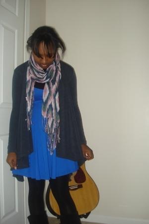 Forever21 dress - Forever21 sweater - Forever21 scarf
