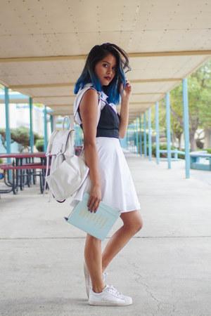 white skater Tobi dress - white Mellow World bag