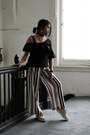 Black-ruffle-crop-gamiss-top-ivory-stripe-wide-leg-gamiss-pants