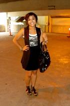 forever 21 vest - Target shirt - american apparal top - vintage skirt - Kelsi Da