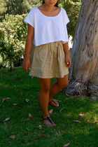 American Apparel shirt - Jcrew skirt - Sam Edlman shoes
