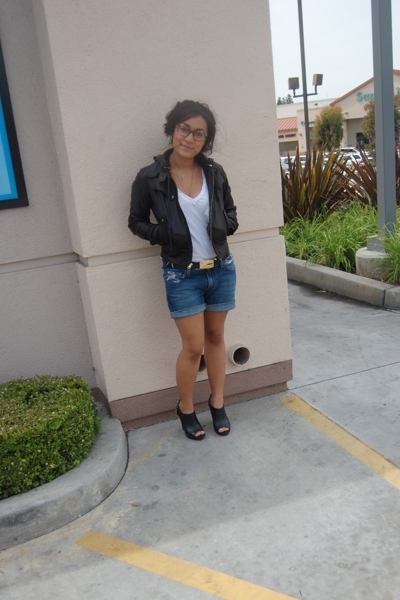 Mike & Chris jacket - forever 21 shirt - Gucci belt - Levis shorts - Steve Madde