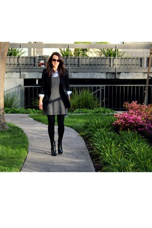 black H&M boots - black Urban Outfitters blazer - sky blue Gap shirt - black Urb